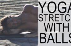yoga ball stretch
