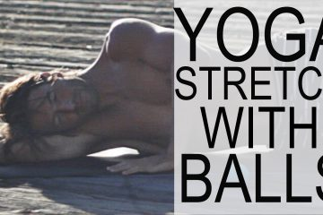 yoga ball stretch