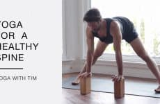 yoga routine for a healthy spine