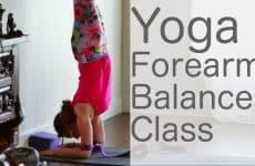 how to do a forearm balance