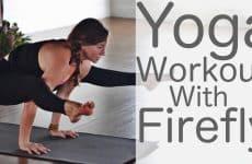 yoga workout with arm balances