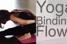 yoga workout with wrapping