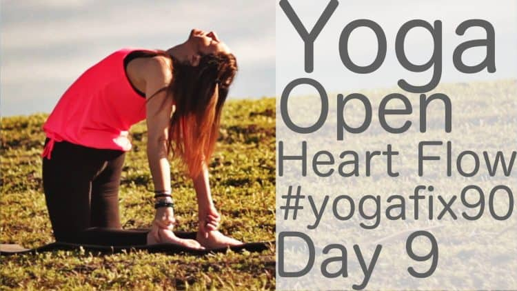 90 Day Yoga Challenge Day 9 Yoga Open Heart Flow [35 Min]