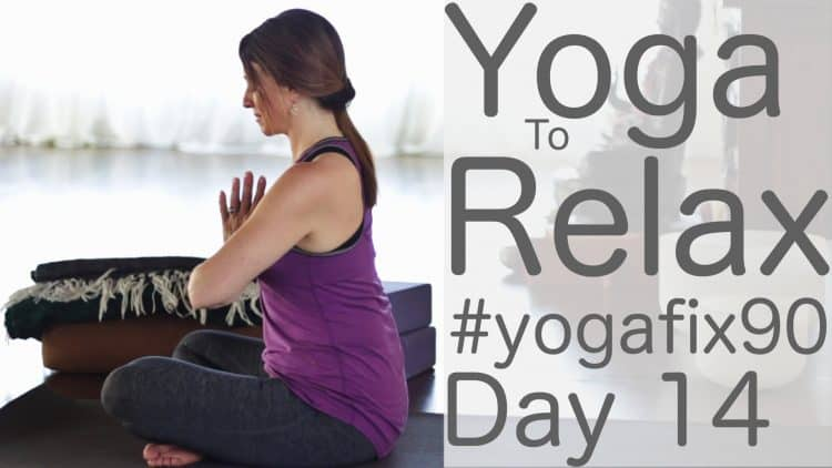 90 Day Yoga Challenge Day 14 Yoga to Relax and Renew [32 Min]